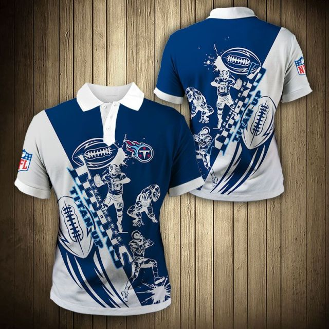 Tennessee Titans Casual 3D Polo Shirt