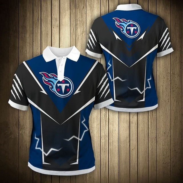 Tennessee Titans Flame Polo Shirt