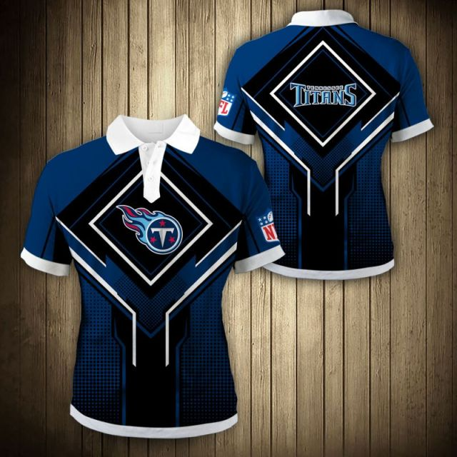Tennessee Titans Square Lattice Polo Shirt