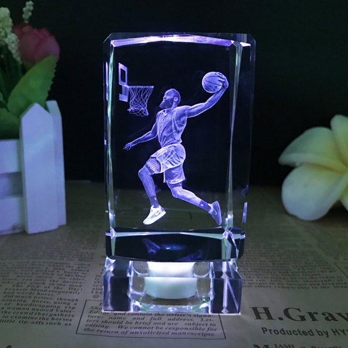 NBA Stars K9 Crystal 3D Ornaments