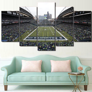 Seattle Sea Hawks Stadium Canvas