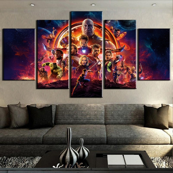 Avengers Infinity War Wall Art Canvas