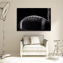 Load image into Gallery viewer, Football Black White Canvas Art Print Painting