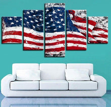 Load image into Gallery viewer, American Flag 5 Pieces Canvas