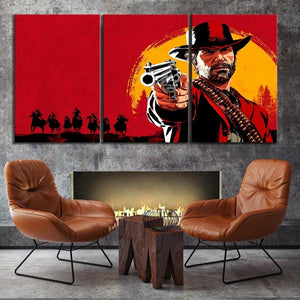 Red Dead Redemption 2 Art Canvas