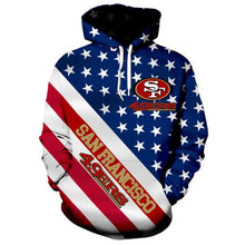 Load image into Gallery viewer, American Flag San Francisco 49ers 3D Hoodie
