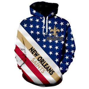 American Flag New Orleans Saints 3D Hoodie