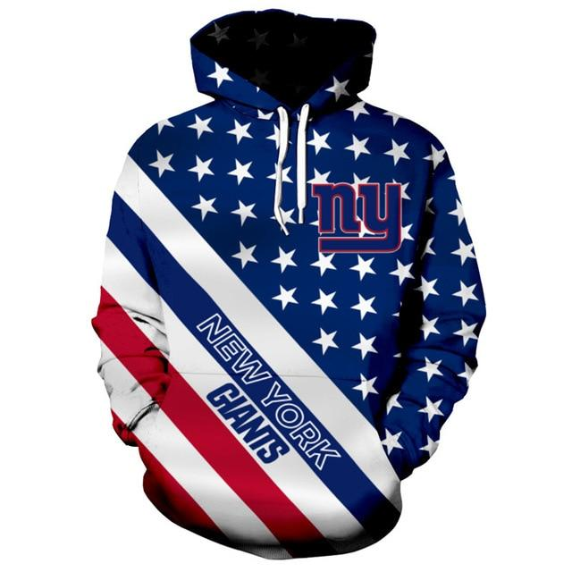 American Flag New York Giants 3D Hoodie