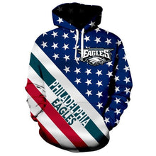 Load image into Gallery viewer, American Flag Philadelphia Eagle 3D Hoodie