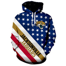 Load image into Gallery viewer, American Flag Jacksonville Jaguars 3D Hoodie