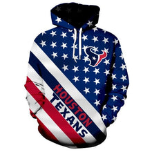 Load image into Gallery viewer, American Flag Houston Texans 3D Hoodie