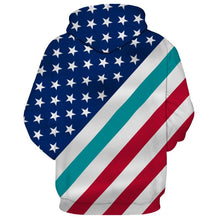 Load image into Gallery viewer, American Flag Miami Dolphins 3D Hoodie