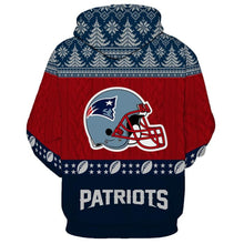 Load image into Gallery viewer, New England Patriots 3d Hoodie Christmas Edition