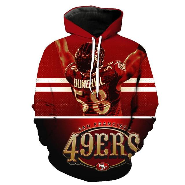 San Francisco 49ers 3d Hoodies