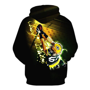 Clay Matthews Green Bay Packers 3D Hoodies