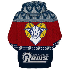 Los Angeles Rams 3d Hoodie Christmas Special Edition