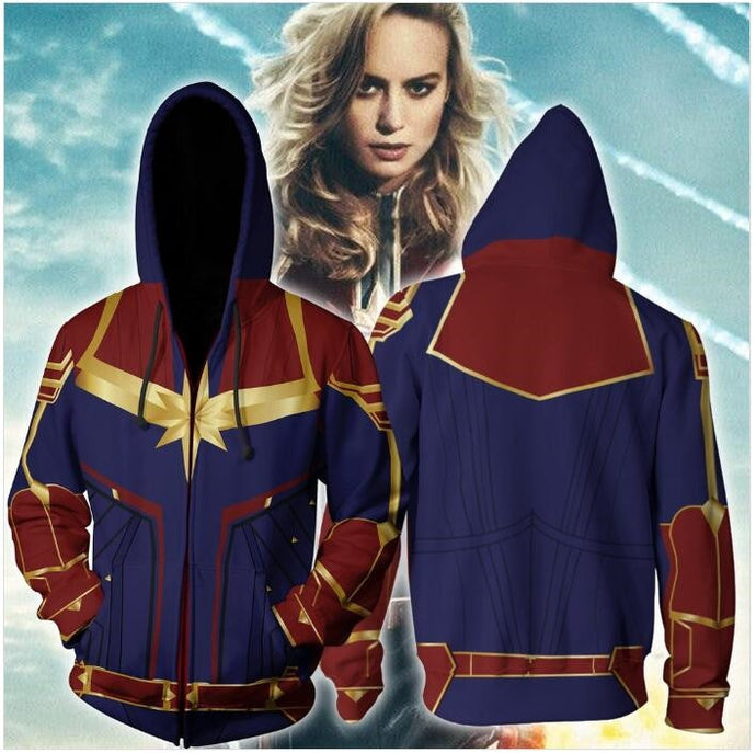 Captain Marvel Hoodie & Zipper