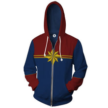 Load image into Gallery viewer, Captain Marvel Hoodie & Zipper