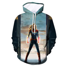 Load image into Gallery viewer, Captain Marvel 3D Hoodies