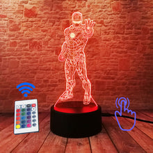 Load image into Gallery viewer, Iron Man 3D Illusion LED Night Light