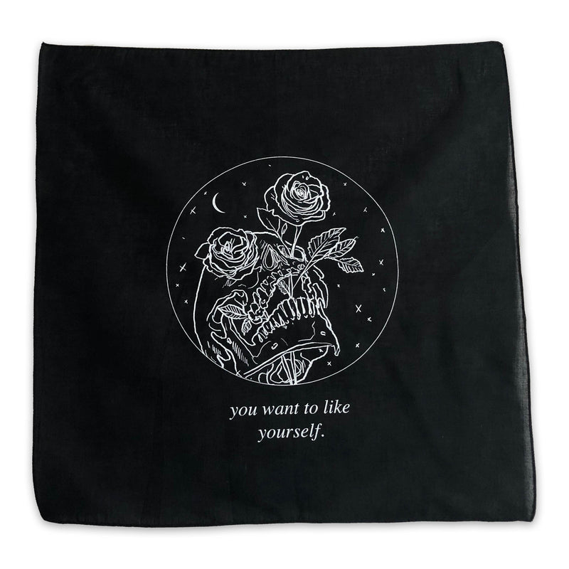"""You Want to Like Yourself"" Cotton Screenprint Patch"