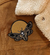 """Moth & Moon"" Embroidered Patch"