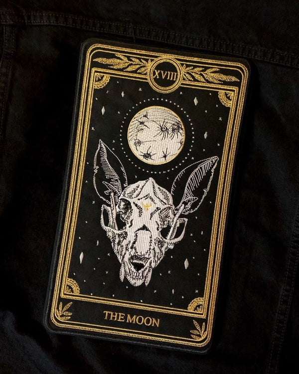 """The Moon"" Large Embroidered Back Patch"