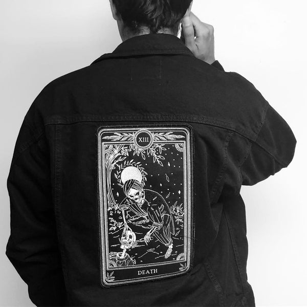 """Death"" Large Embroidered Back Patch"