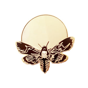 Death's-Head Moth Hard-Enamel Pin