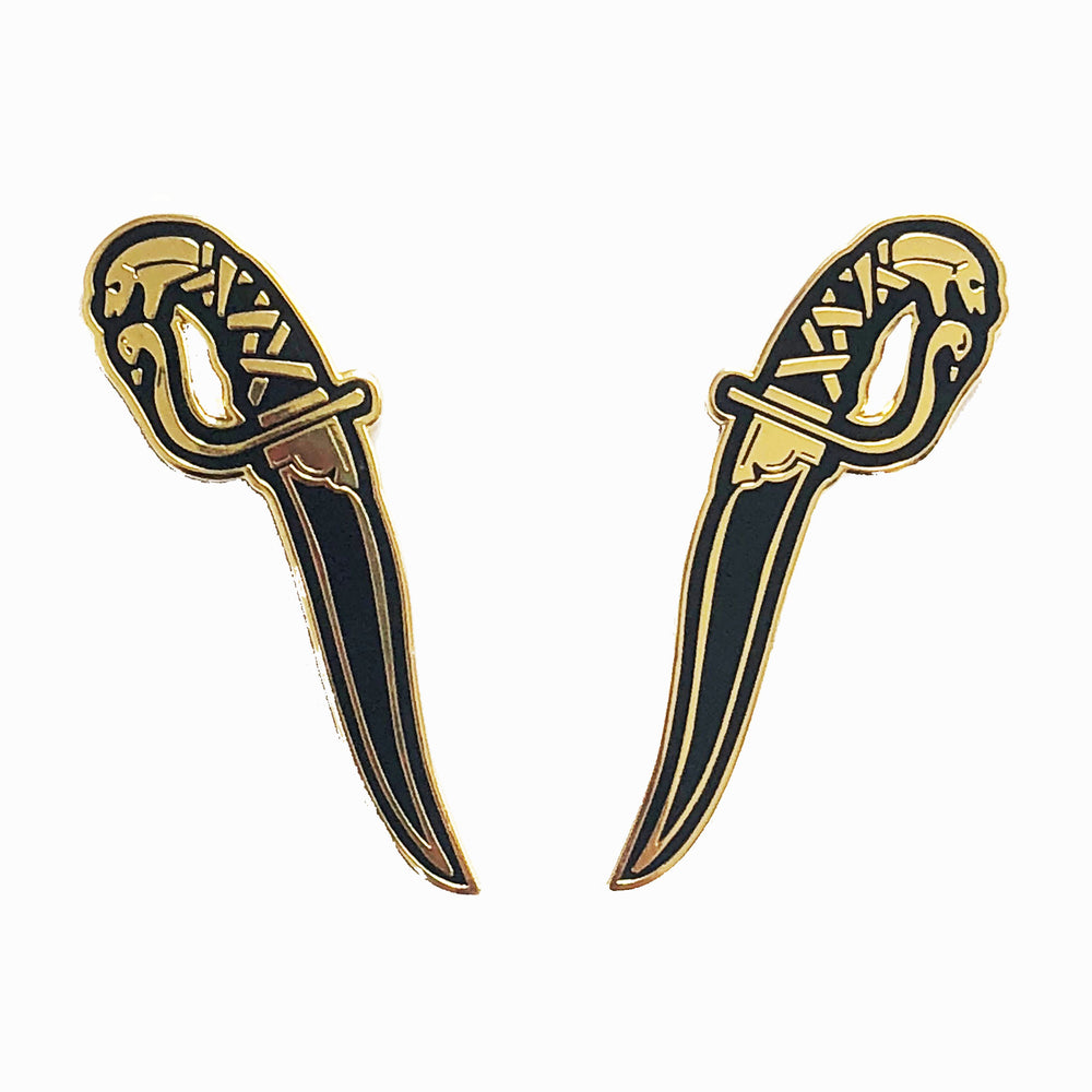 Kirpan Hard-Enamel Pin Set