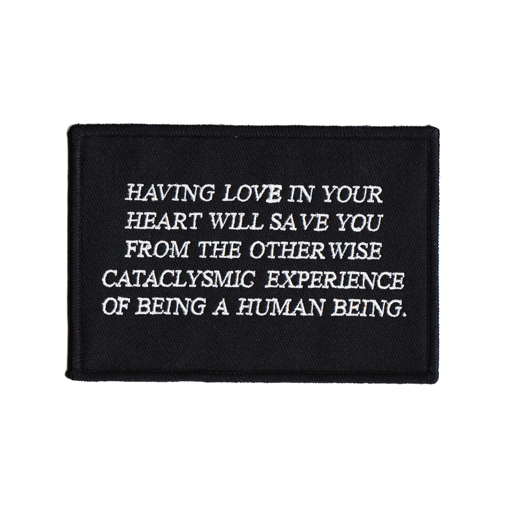 """Love in Your Heart"" Embroidered Patch"