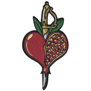 Pomegranate Love Embroidered Patch