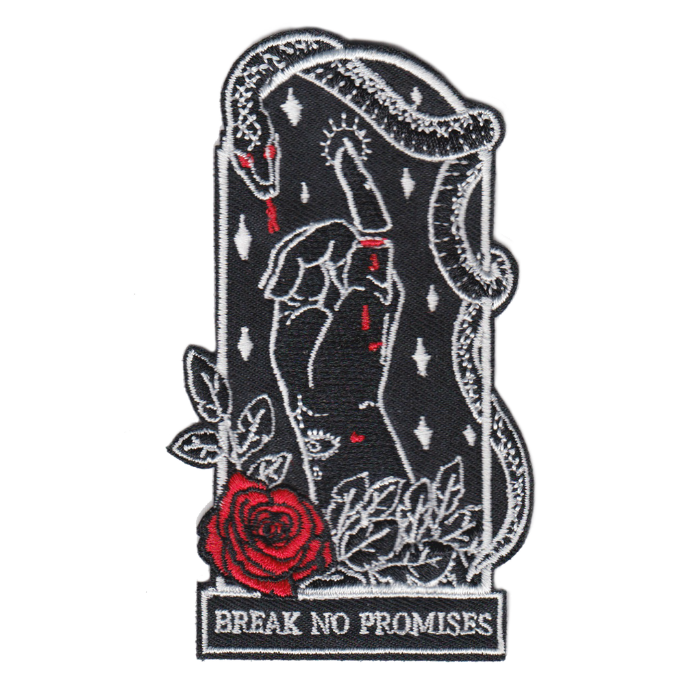 """Break No Promises"" Embroidered Patch"