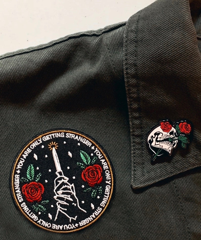 """You Are Only Getting Stranger"" Embroidered Patch"