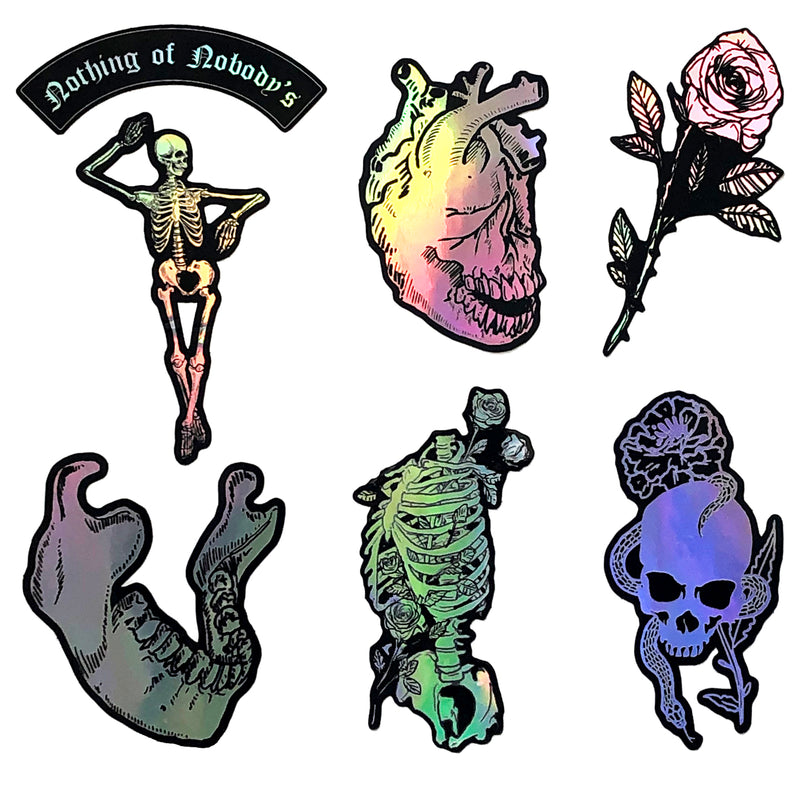 "Sticker Pack - ""To the Bone"" Holographic"