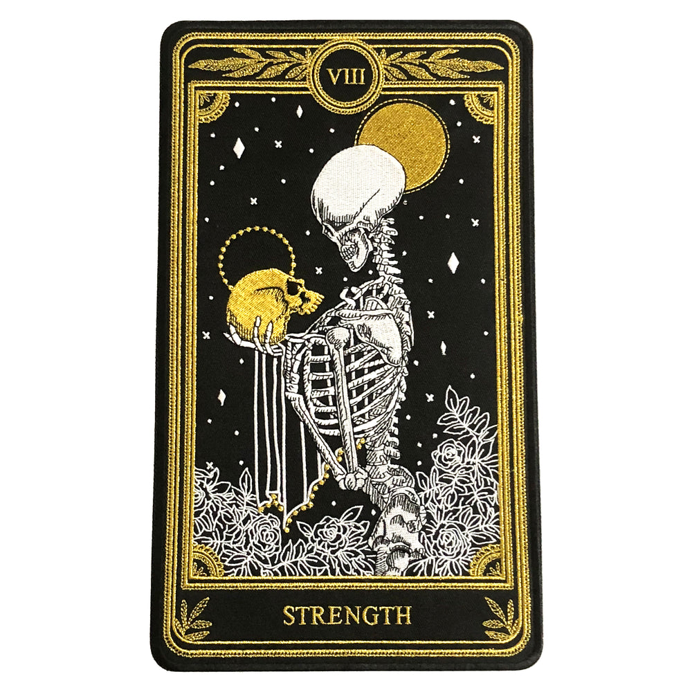 """Strength"" Large Embroidered Back Patch"