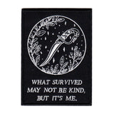 """What Survived"" Embroidered Patch"