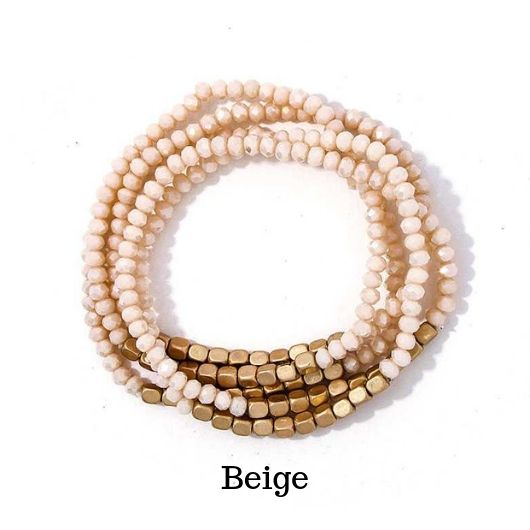 Layered Multi-Beaded Bracelet - Beautifulee Made Boutique