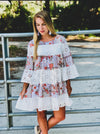 Ivory Patchwork and Eyelet Lace Dress - Beautifulee Made Boutique Fashion Clothing Tops, Dresses, Bottoms, Rompers, Jumpsuits, Skirts, Shorts, Pants