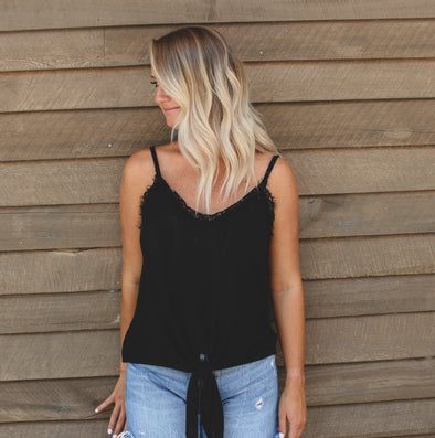 Black Lace Trim Knit Top - Beautifulee Made Boutique Fashion Clothing Tops, Dresses, Bottoms, Rompers, Jumpsuits, Skirts, Shorts, Pants