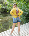 High Rise Denim Shorts - Beautifulee Made Boutique Fashion Clothing Tops, Dresses, Bottoms, Rompers, Jumpsuits, Skirts, Shorts, Pants