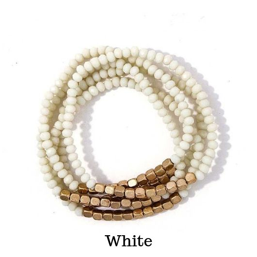 Layered Multi-Beaded Bracelet - Beautifulee Made Boutique Fashion Clothing Tops, Dresses, Bottoms, Rompers, Jumpsuits, Skirts, Shorts, Pants