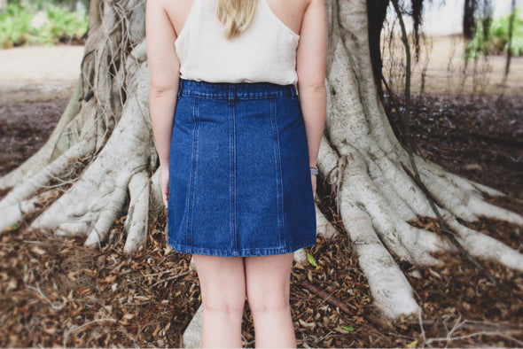 Denim Button Down Mini Skirt - Beautifulee Made Boutique