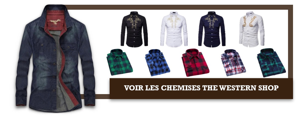 Chemise western homme