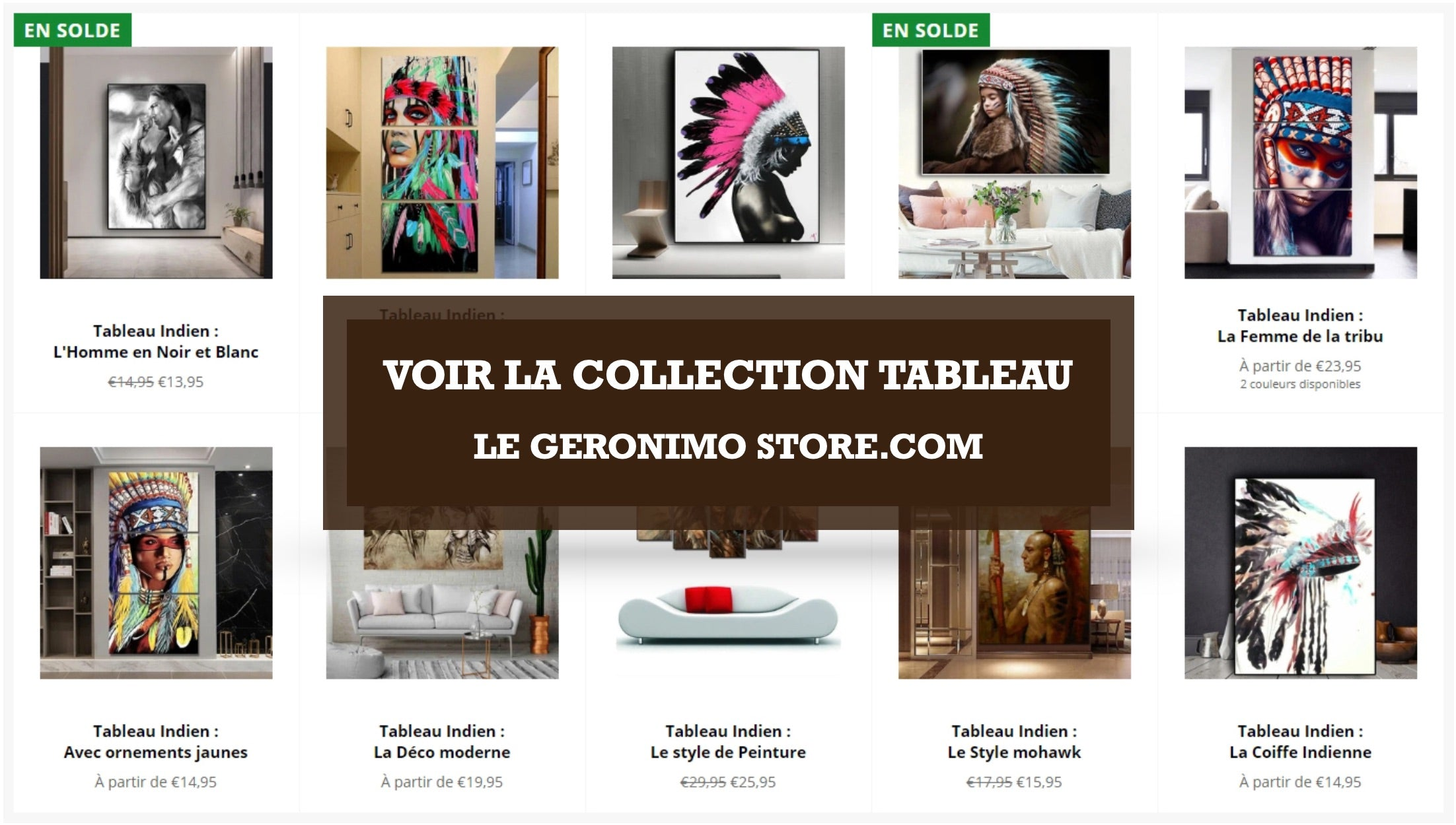 Collection Tableau Le Geronimo Store