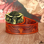ceinture country pour jean homme rouge