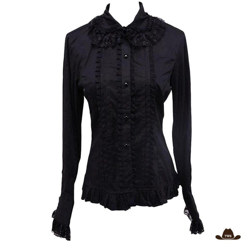 Chemise Country Femme Noire