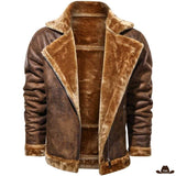 Veste Homme Style Western Col Fourrure
