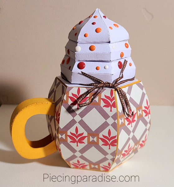 Cup of Fall 3D Paper Project - Pumpkin Spice Mug