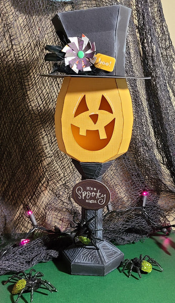 Smiling Jack O Lantern 3D Paper Craft Project